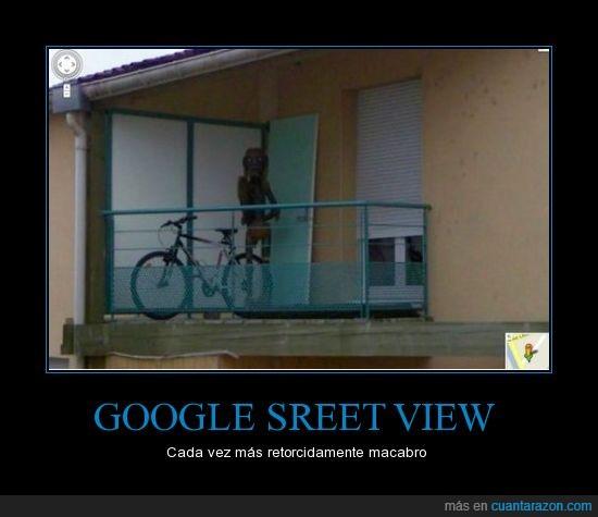 extraño,google street view,miedo