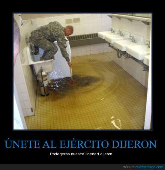 asqueroso,baño,Drenaje,Ejército,lol