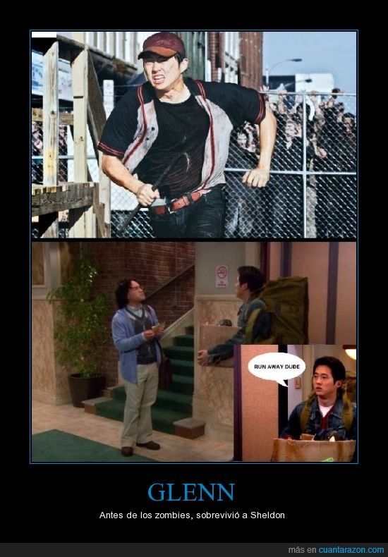 glenn,the big bang theory,walking dead