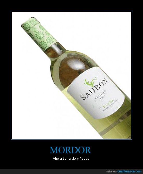 botella,el señor de los anillos,mordor,sauron,viñedos,vino