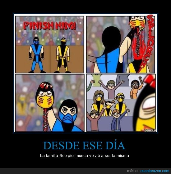 columna,familia,fatality,finish him,mortal kombat,scorpion,sub-zero