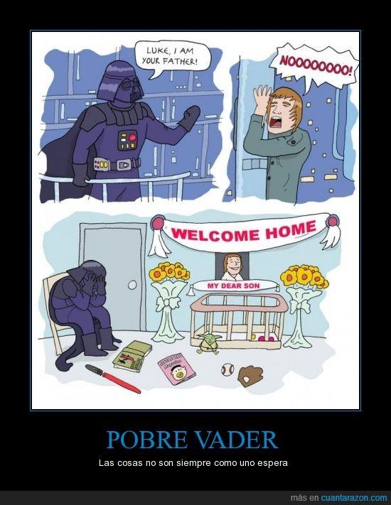 Darth Vader,FAIL,Hijo,Luke,Padre