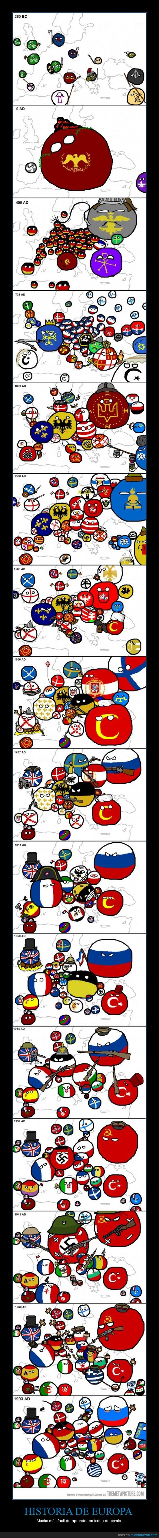 cómic,conquistas,Europa,guerras,historia,paises