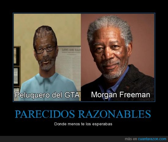 grand theft auto,gta,morgan freeman,peluquero