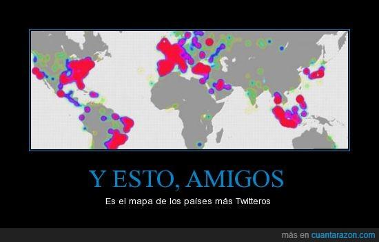 adictos,amigos,mapa,mundo,paises,twitter