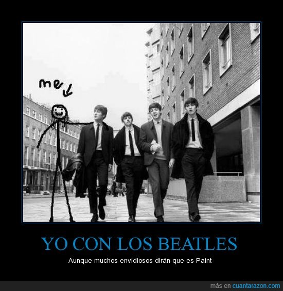 beatles,foto,montaje,paint,photoshop,yo