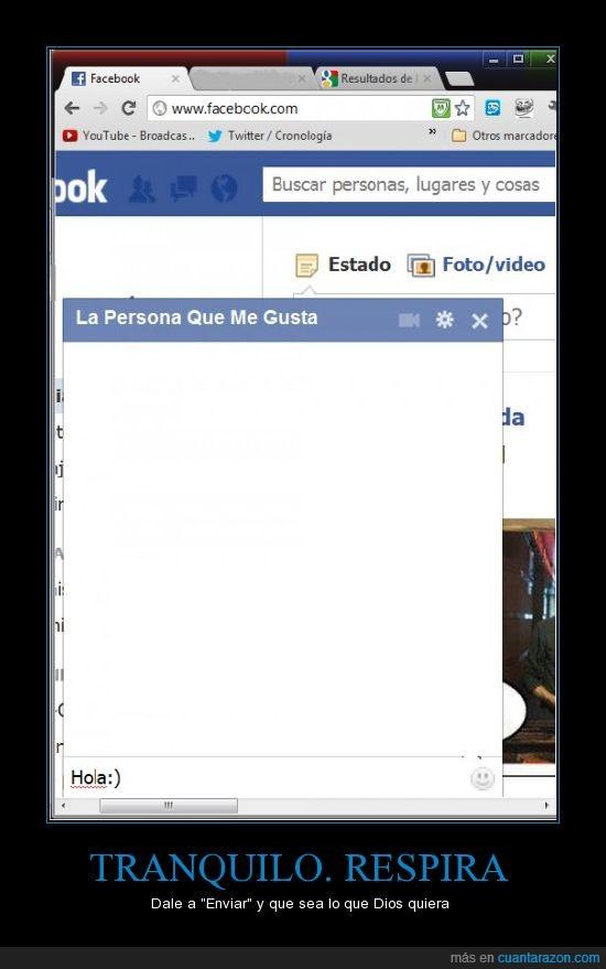 conversacion,enviar,facebook,gusta,nervios,persona,tranquilo