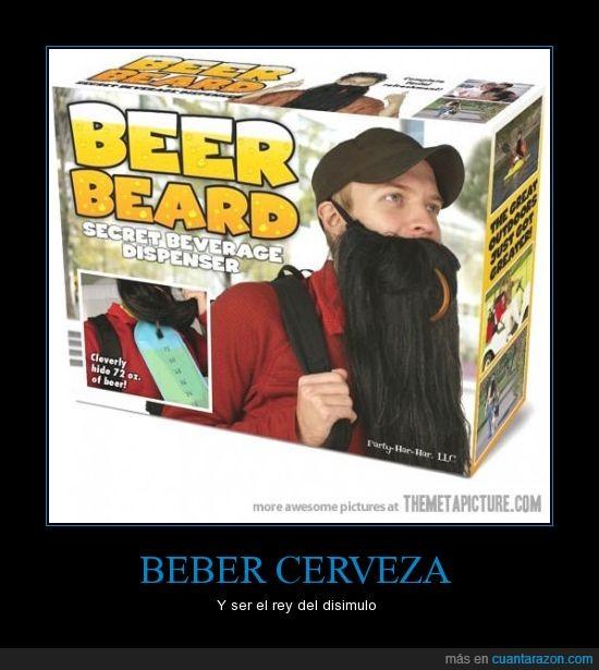 barba,beber,cerveza,ocultar