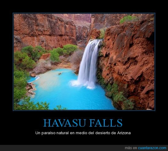 Agua,Arizona,Cascada,Estados Unidos,Falls,Havasu,Turquesa