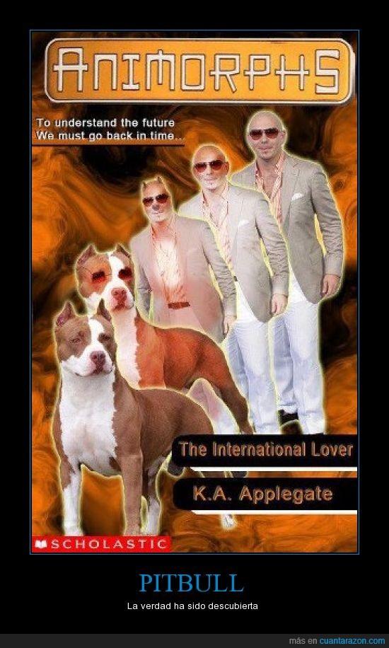 animorphs,libro,montaje,perro,pitbull,portada,tapa