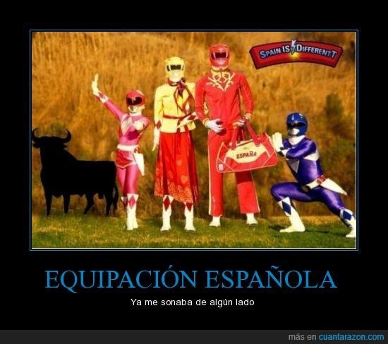 equipación,olimpiadas,power rangers,spain,spain is different