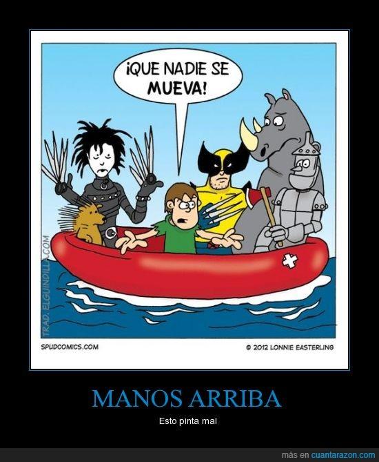 barco,bote,hundirse,lancha,pincharse,pinchos
