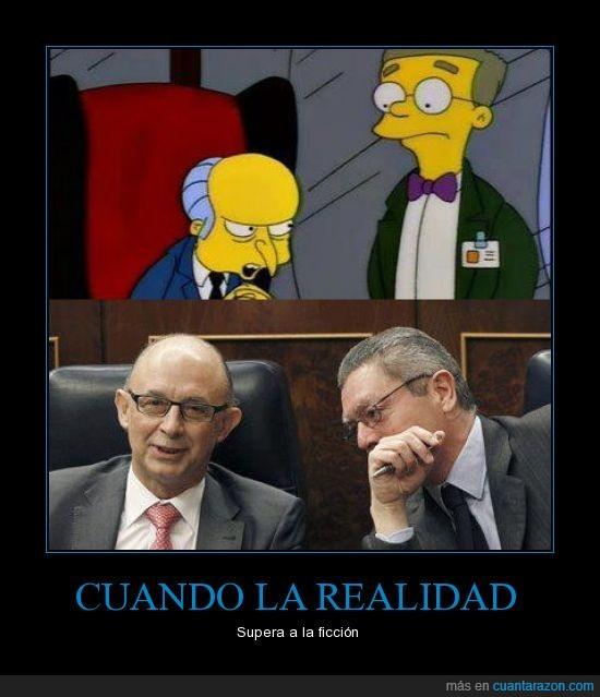 Gallardón,Los Simpson,Montoro,PP,Señor Burns,Smithers