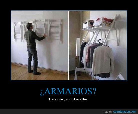 armarios,ropa,sillas