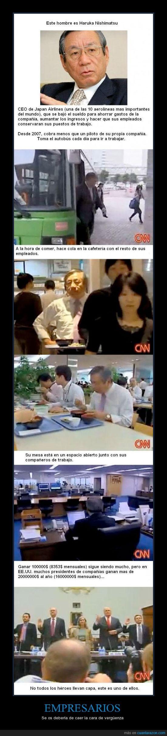 empresario,haruka nishimatsu,japan airlines,presidente,sueldo