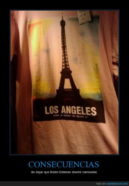 camiseta,fail,los angeles,paris,torre eiffel