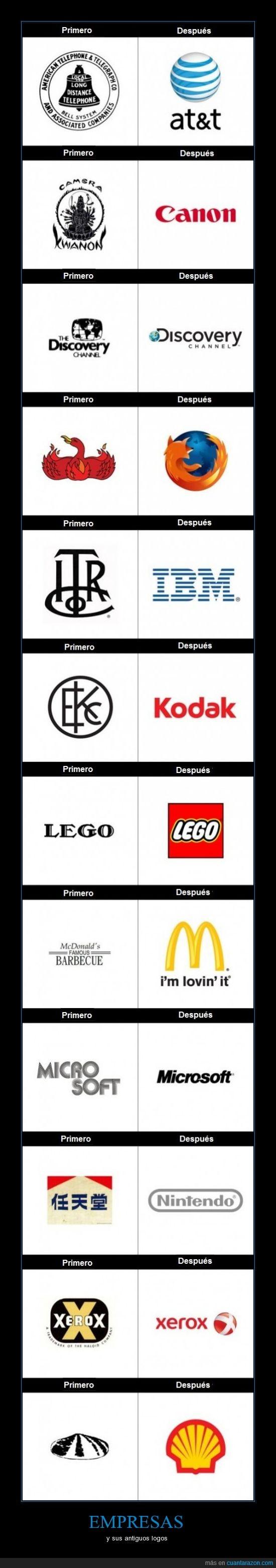 antiguos,AT&T,canon,discovery chanel,empresas,firefox,ibm,kodak,lego,logos,mcdonals,microsoft,nintendo,shell,xerox