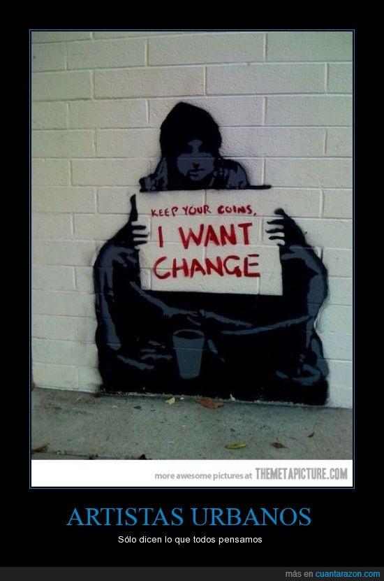 agudizar,arte,billete,cambio,crisis,graffiti,ingenio,monedas