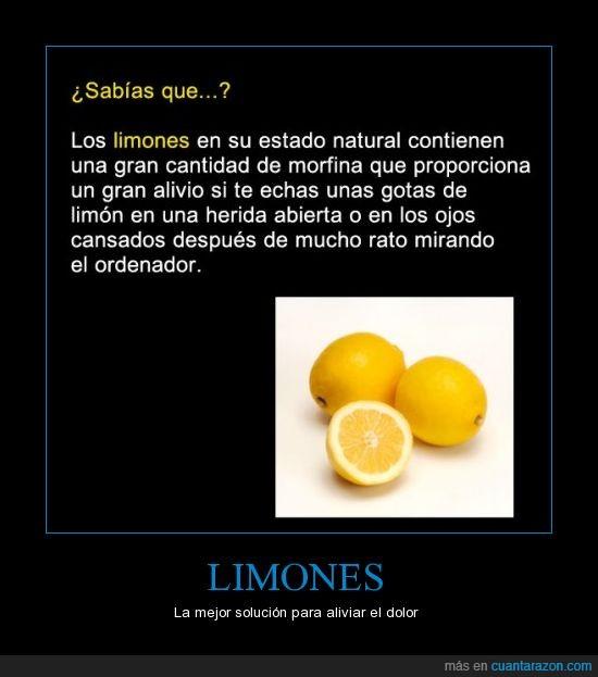 cansancio,herida,limon,morfina,natural,ojo
