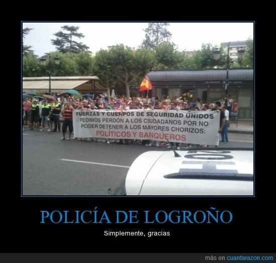 banquero,chorizo,detener,Logroño,manifestación,policía,protestas