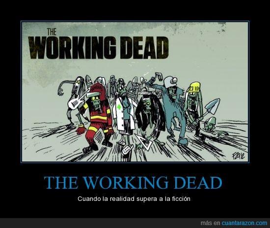 funcionarios,Rajoy,recortes,walking dead