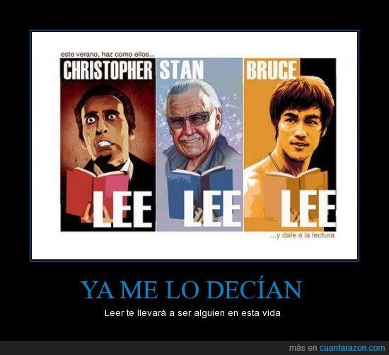 alguien,bruce,christopher,Lee,leer,stan,vida