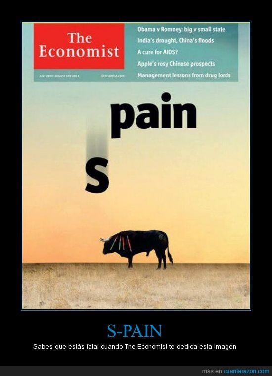 cae,dolor,economist,pain,Spain,toros