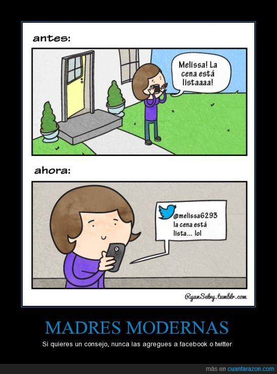 cenar,madre,moderna,movil,twitter