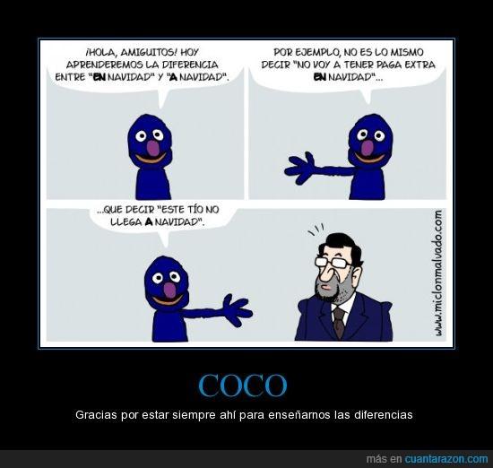 Coco,españa,navidad,no dura,paga extra,Rajoy,recortes,sueldo