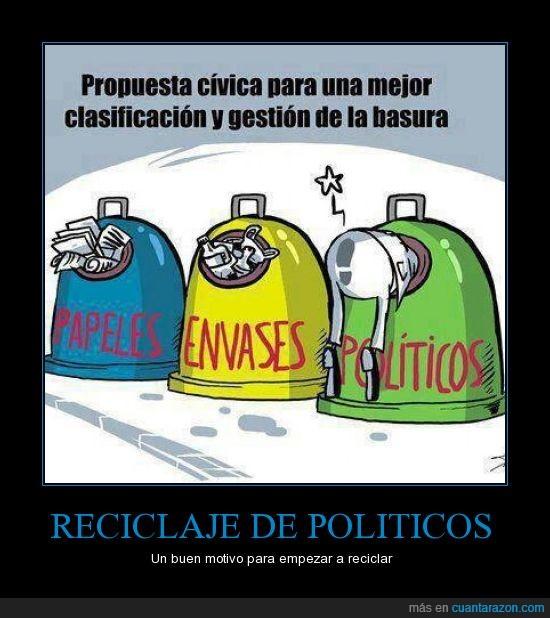 Basura,contenedores,España,Politicos,Reciclar