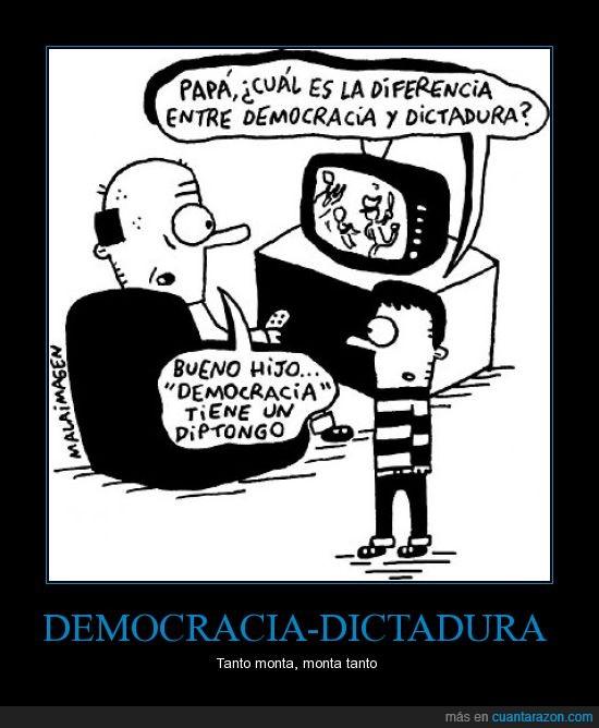 democracia,dictadura,diferencias,diptongo,malaimagen