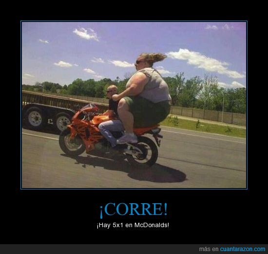 con,corre,en,gorda,hamburguesas,hay,mcdonalds,moto,novio,oferta,que,su,super,USA