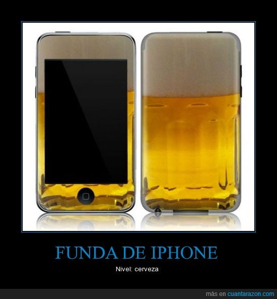 cerveza,funda,iphone,nivel