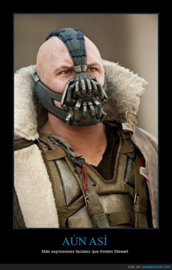 bane,batman,expresiones faciales,kirsten stewart,villano