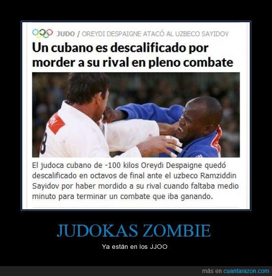 JJOO,judoka cubano,judokas zombies,mordedura,ribal