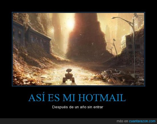 bandeja,correo,desolado,entrada,guarro,hotmail,lleno,robot,spam,wall-e
