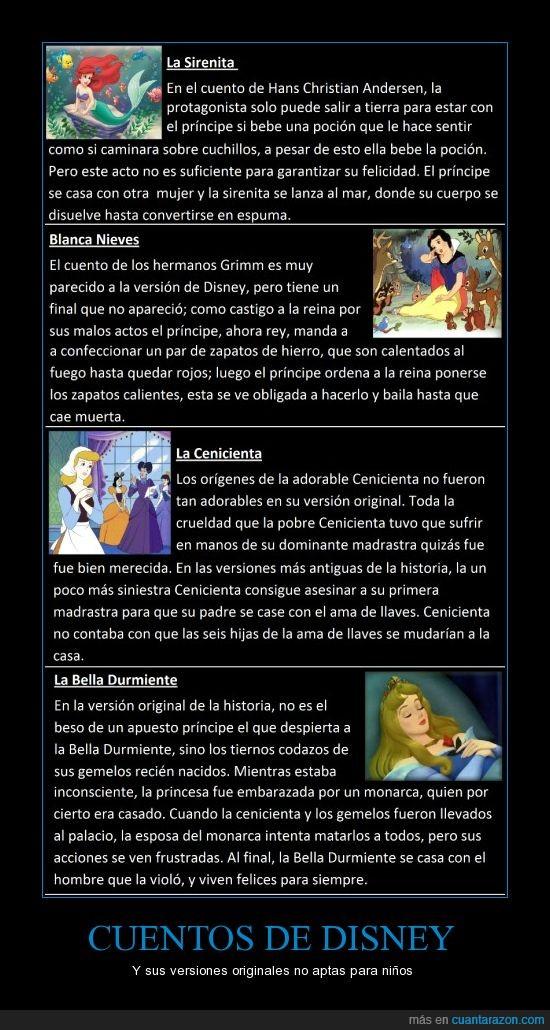 bella,blancanieves,cenicienta,cruel,cuentos,Disney,durmiente,niños,original,sirenita,versión