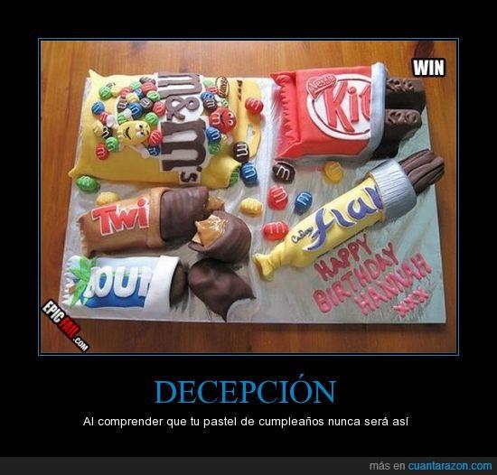 bounty,cadbury,chocolatina,cumpleaños,kitkat,m&m,pastel,tarta,twist,win