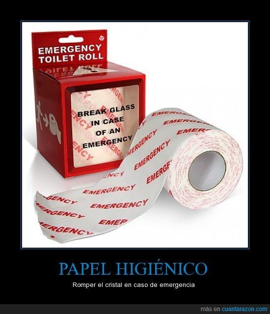 cristal,emergencia,higiénico,papel