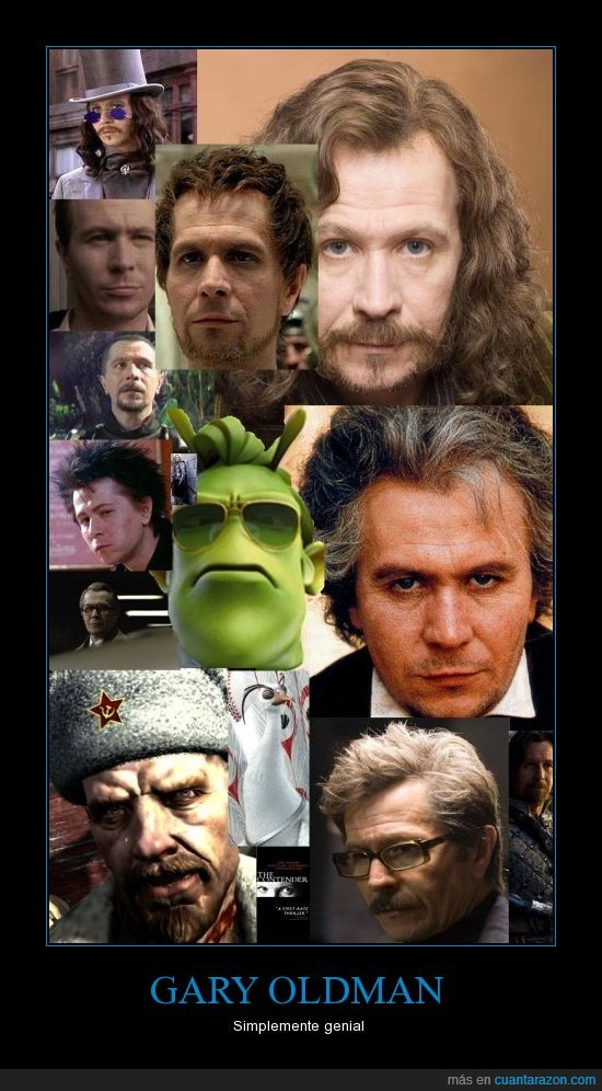 Beethoven,COF,Dracula,Gary Oldman,Jim Gordon,Kung Fu Panda 2,La Chica De La Capa Roja,Lee Harvey Osvald,Padre Solomon,Planet 51,Poncio Pilatos,Sid Vicious,Sirius Black