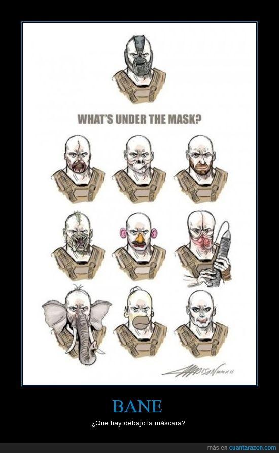 Bane,Batman,caras,máscara