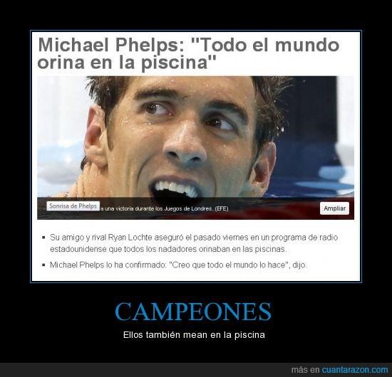 campeón,JJOO,Mear,medalla,miccionar,nadador,orinar,oro,Phelps