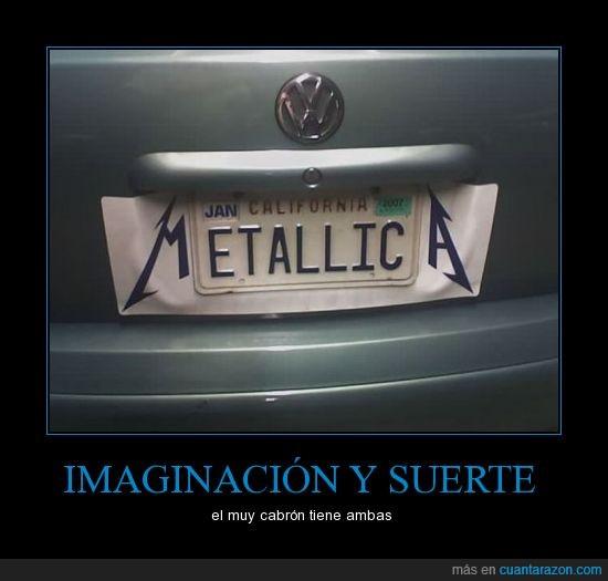 california,coche,matricula,metalero,Metallica,placa