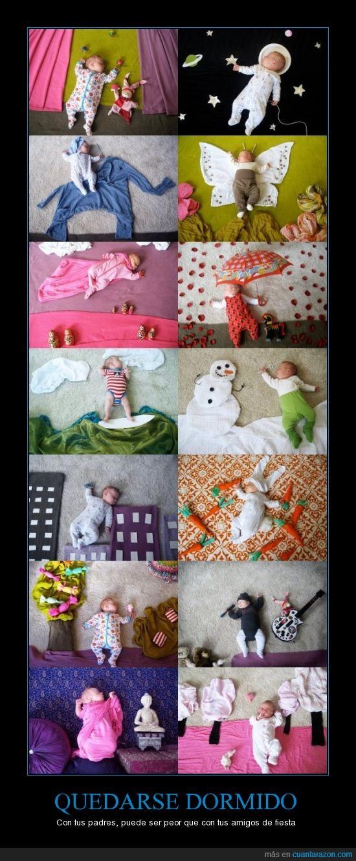bebé,disfraz,dormido,escenario,fiesta,foto,hijo,niño,siesta