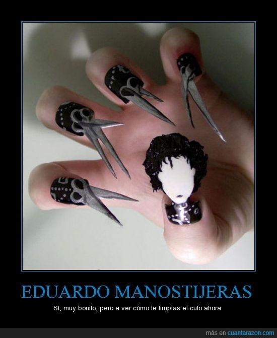 eduardo manostijeras,edward scissorhands,manicura,tijeras,tim burton,uñas