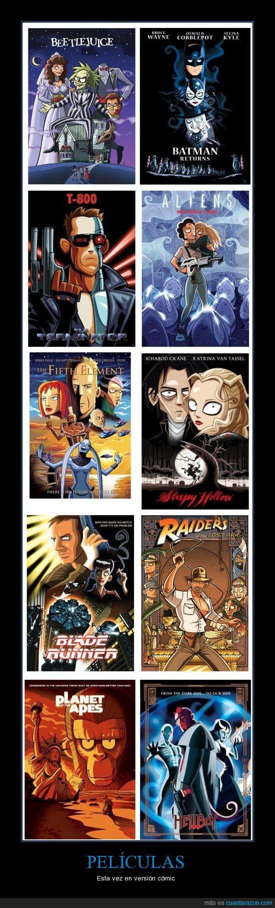 aliens,blade runner,Hellboy,planeta,Simios,terminator