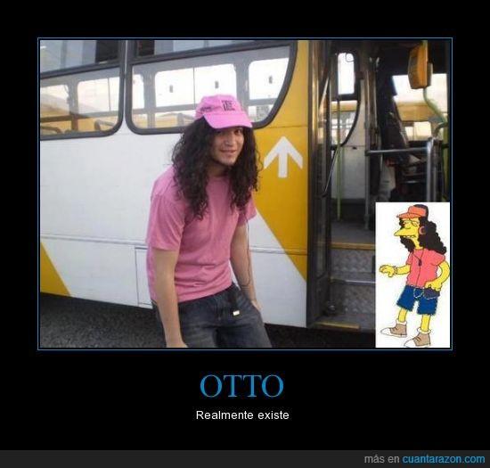 autobus,conductor,Los Simpson,me llamo Otto y voy como una mot-to,Otto