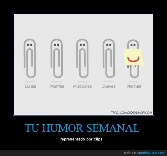 clip,feliz,humor,reir,semanal,sonrisa,triste,venga gente que es finde