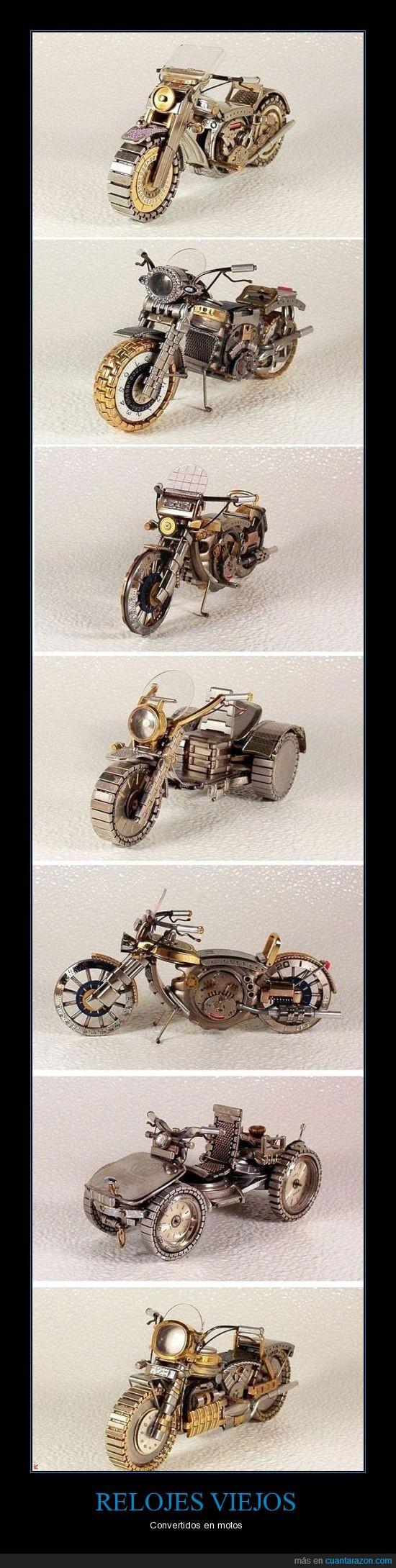 bonita,moto,reloj,viejo
