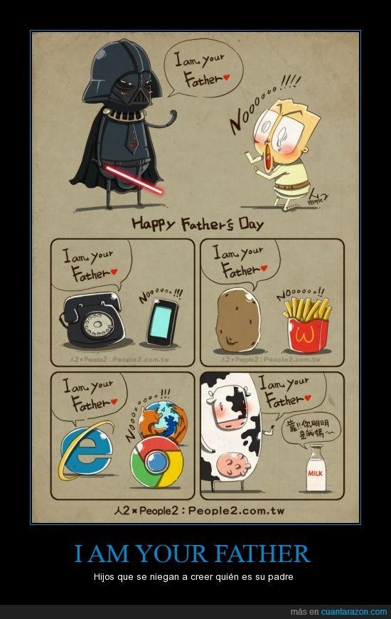 Darth Vader,internet explorer,leche,móvil,patata
